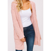 Zz Cozy Popcorn Sweater (Blush, Mocha) - The Boho Sophisticate