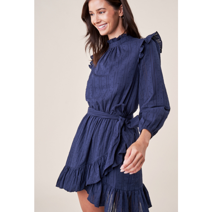 Eyes On Me Ruffle Wrap Dress