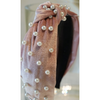 Velvet Pearl Top Knot Headband - The Boho Sophisticate