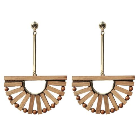 Bamboo & Rattan Birdcage Earrings