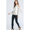 Cold Shoulder Sweatshirt Top - The Boho Sophisticate