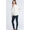Cold Shoulder Sweatshirt Top