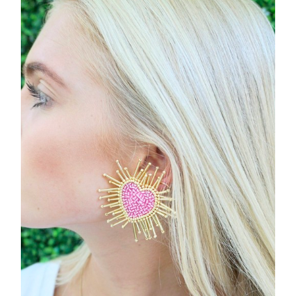 zzHeart Burst Beaded Earrings - The Boho Sophisticate