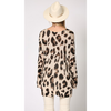 ZzLacey Leopard Tunic V Neck Sweater - The Boho Sophisticate