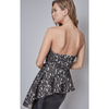 Harper Black Lace Strapless Peplum Top - The Boho Sophisticate