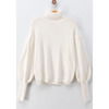 Dylan Turtle Neck Puff Sleeve Sweater - The Boho Sophisticate