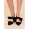 Black Velvet Point-Toe Flats - The Boho Sophisticate
