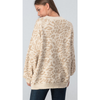 zzCream/Taupe Leopard Sleeve Sweater - The Boho Sophisticate