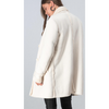 Ivory Fleece Lined Double Breasted Coat - The Boho Sophisticate