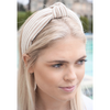 Stripe Top Knot Headband - The Boho Sophisticate