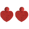 Beaded Heart Earrings - The Boho Sophisticate