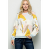 Avery Jacquard Sweater Pullover - The Boho Sophisticate