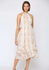 Morgan Snake Print Ruffle Dress - The Boho Sophisticate