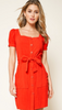 Miley Coral Button Down Dress - The Boho Sophisticate