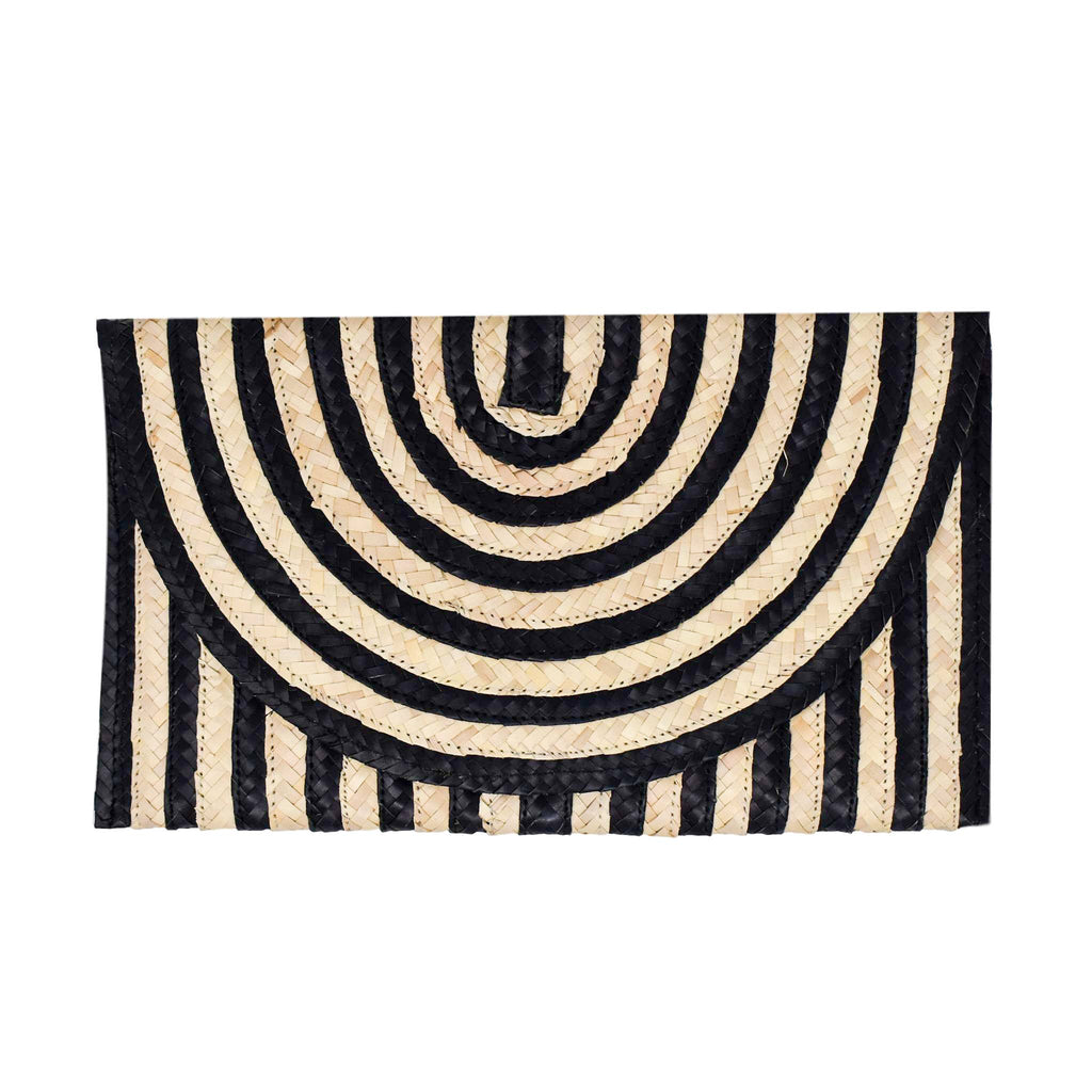 Claire Clutch - Black Stripe - The Boho Sophisticate