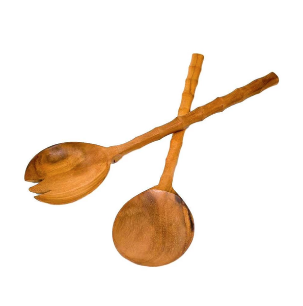 Bamboo Handle Serving Tongs - The Boho Sophisticate