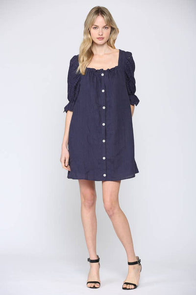 Lucy Puff Sleeve Button Down Dress - The Boho Sophisticate