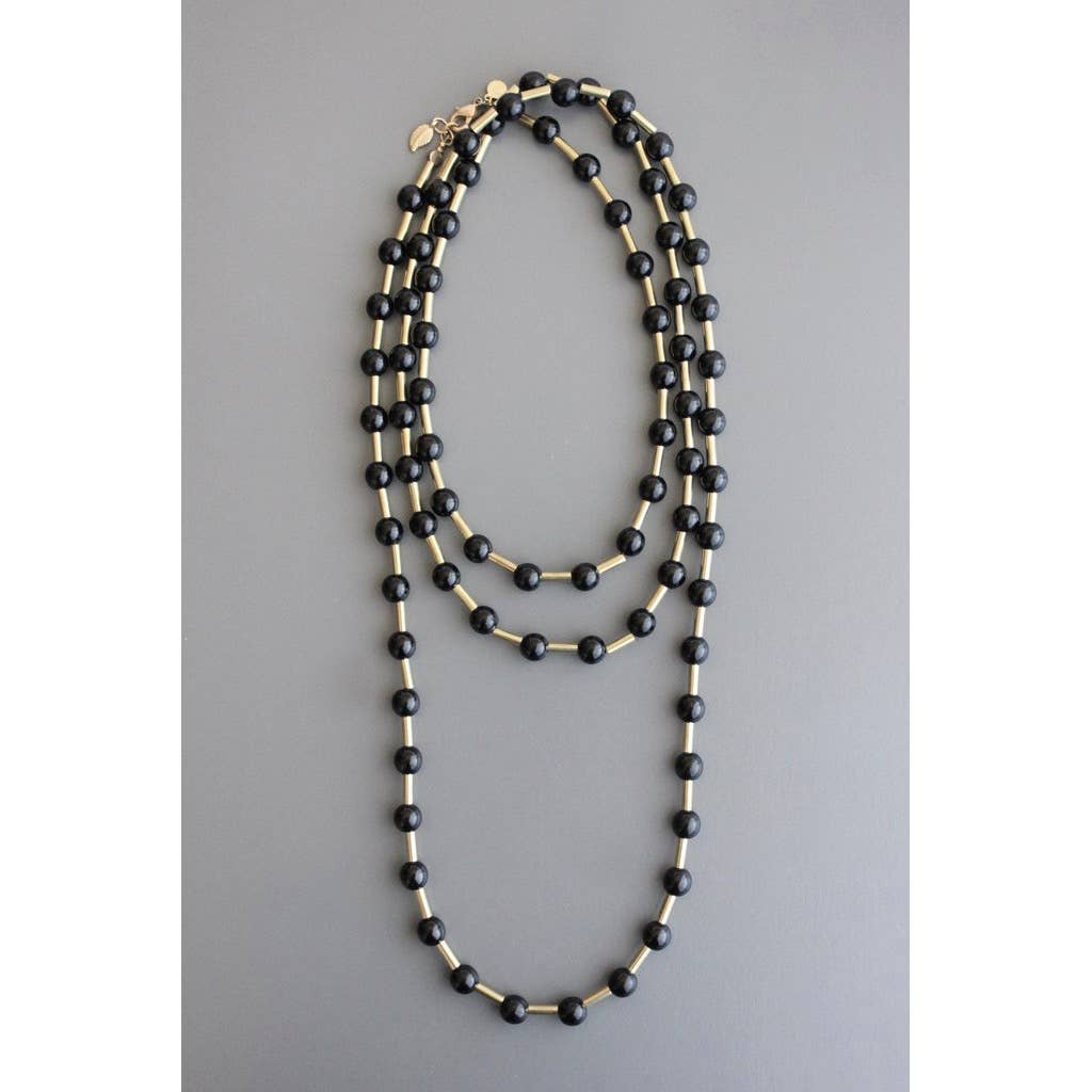 Black and Gold Necklace - The Boho Sophisticate