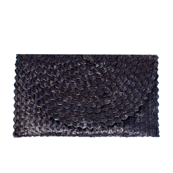Grass Clutch - Black - The Boho Sophisticate
