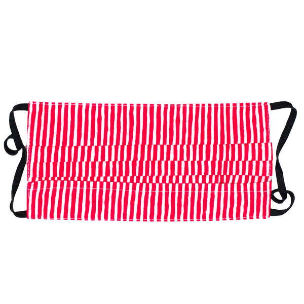 Reusable Face Mask - Red/White Stripe - The Boho Sophisticate