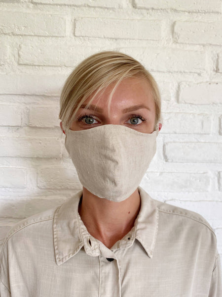 Natural Viscose Linen Face Mask - The Boho Sophisticate