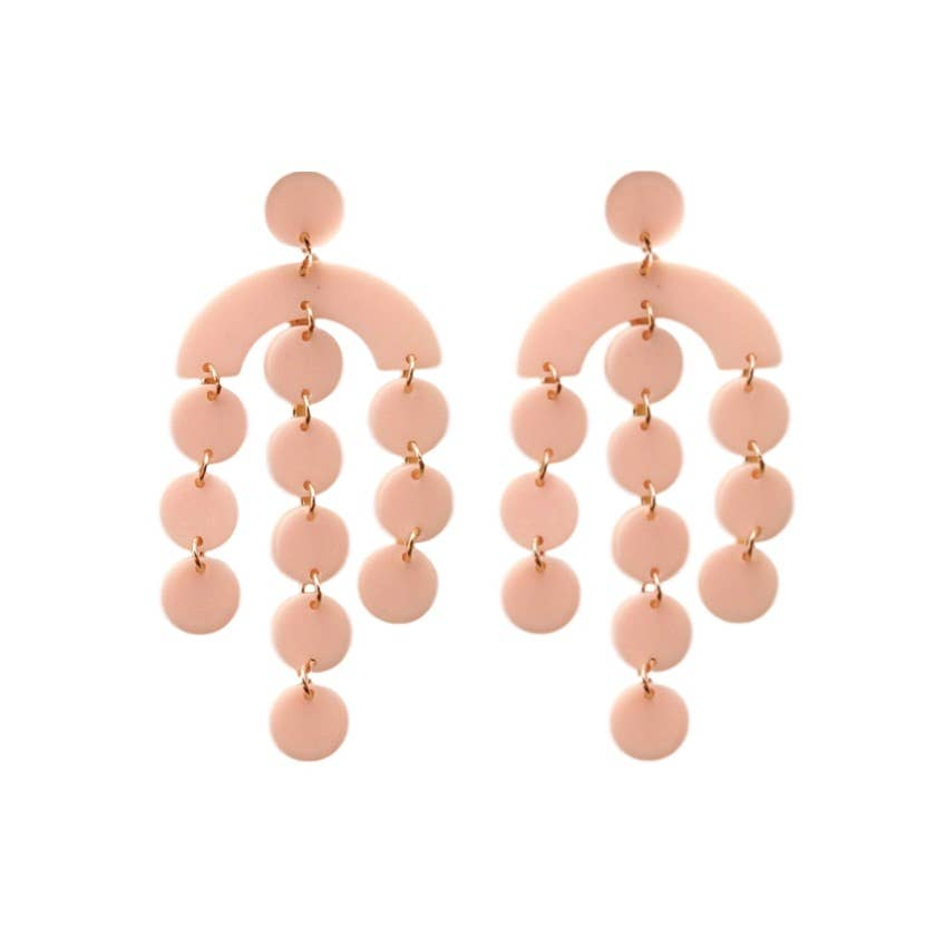 St Armands Designs of Sarasota - Pink Acrylic Geometric Drops - The Boho Sophisticate