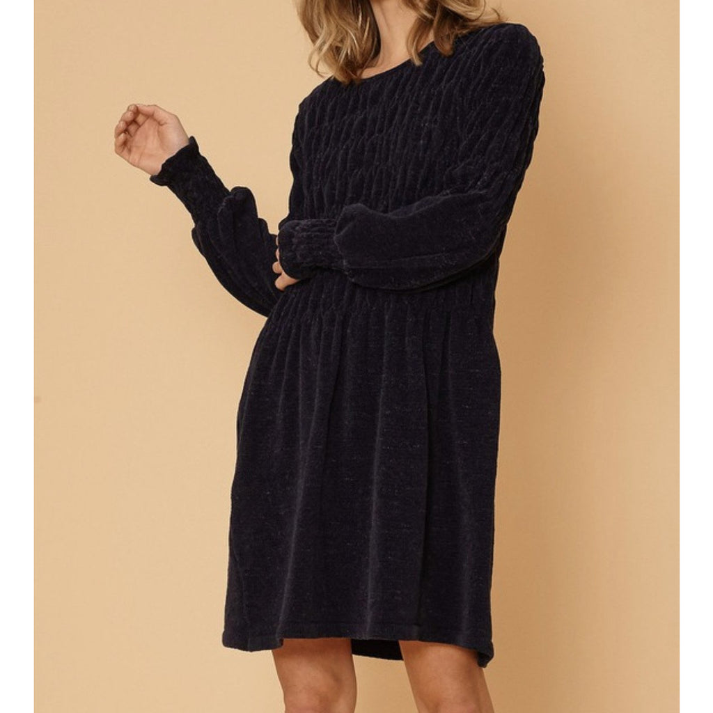 Piper Navy Blue Dress - The Boho Sophisticate