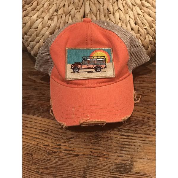 Land Rover / Jeep Inspired Boho Trucker Hat