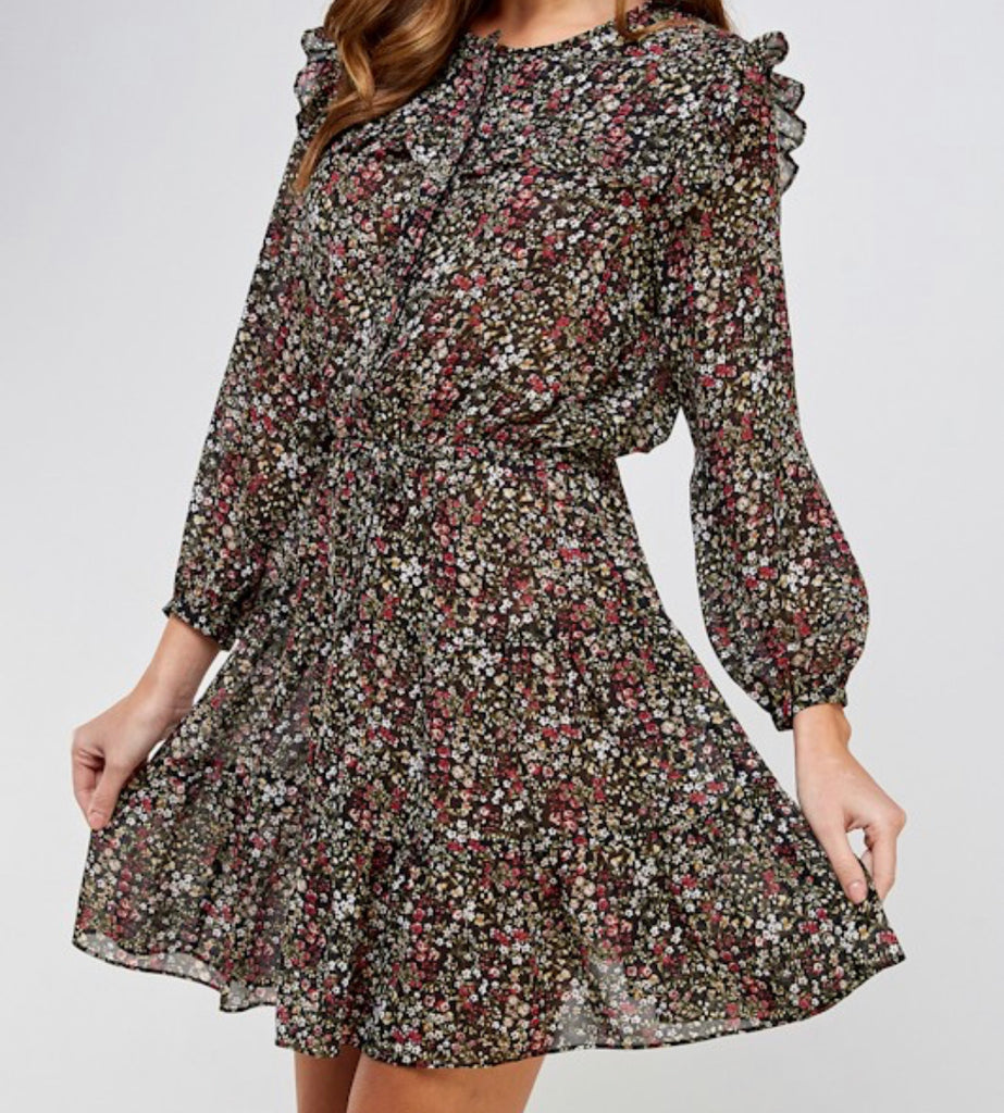 Connie Floral Long-sleeve Dress - The Boho Sophisticate