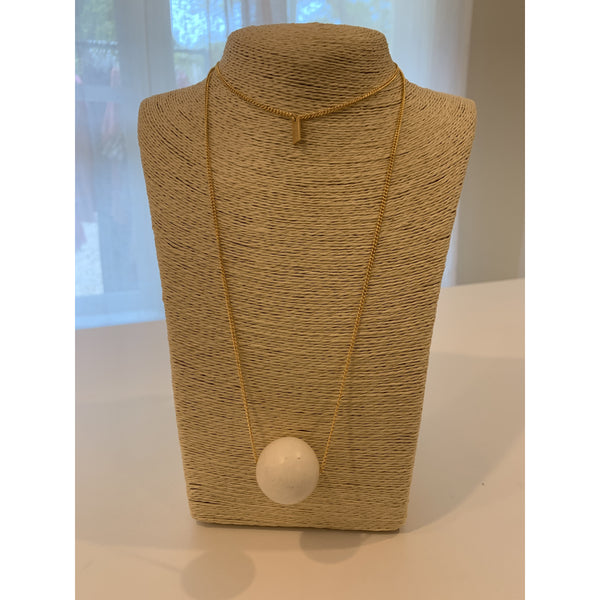 Wooden Ball Necklace - The Boho Sophisticate