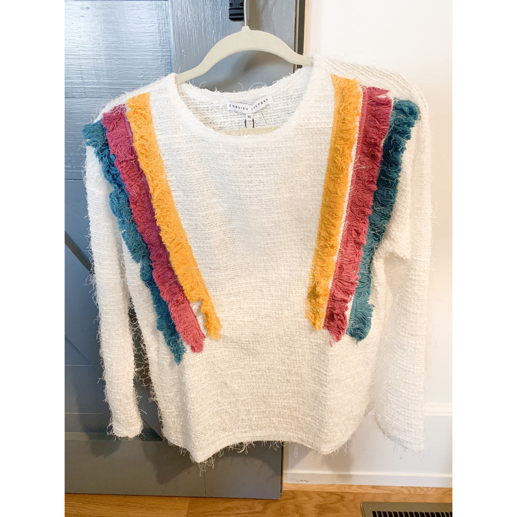 Jessica Tri-Color Lightweight Summer Sweater