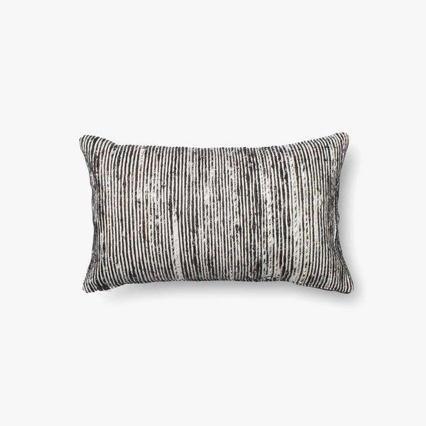 Black and White Lumbar Accent Pillow