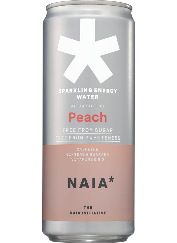 SPARKLING ENERGY WATER PEACH - 12 pack