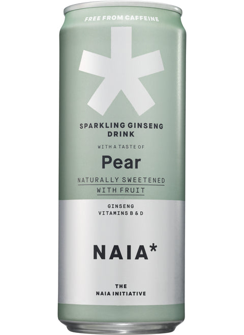 SPARKLING GINSENG DRINK PEAR - CAFFEINE-FREE - 12 pack
