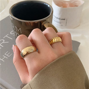 SKY Chunky Gold Rings