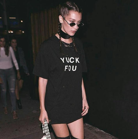 """YUCK YOU"" Oversized T-shirt Dress"