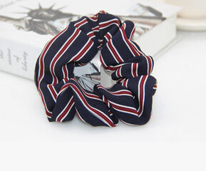 Black Scrunchie w/Red Stripes