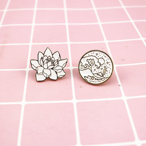 Waves, Flower Pin
