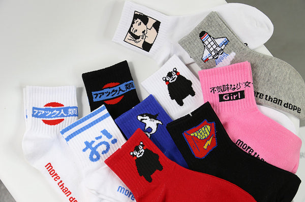 Cartoon Japanese Socks