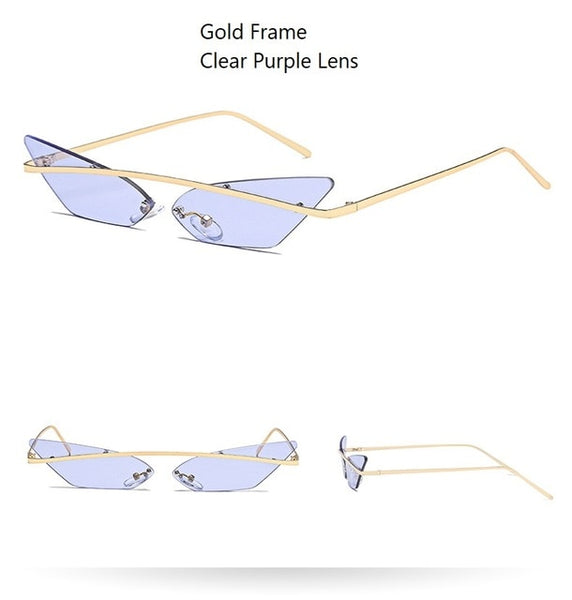 90s Square Cat Eye Sunglasses