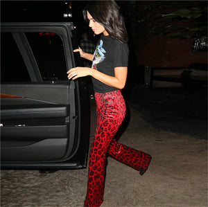 Madonna Red Leopard Pants