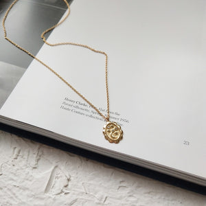 Oval Moon Star Pendant Necklace