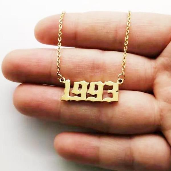 90s Baby Custom Year Necklace
