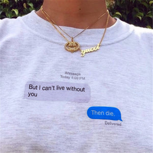 iMessage conversation Tee