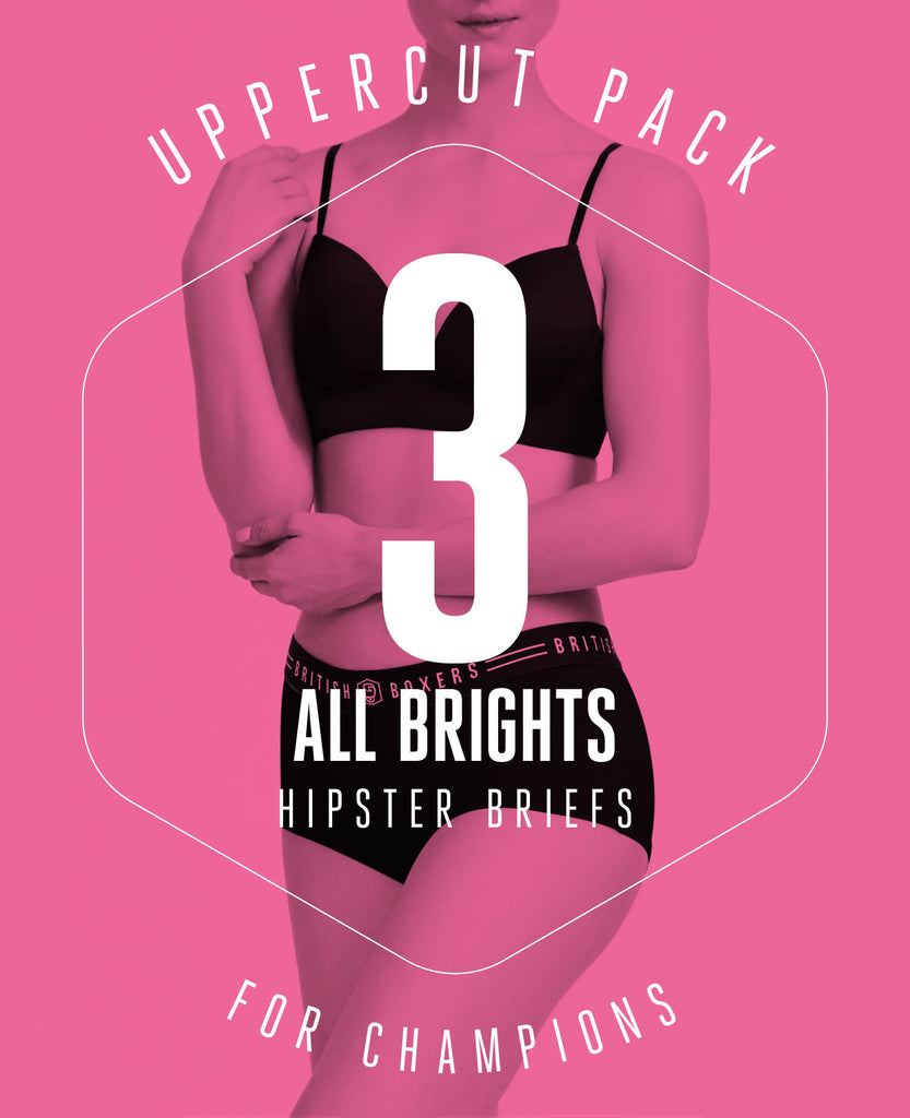 Uppercut Pack! 3 pairs of hipster briefs in bright colours for £19