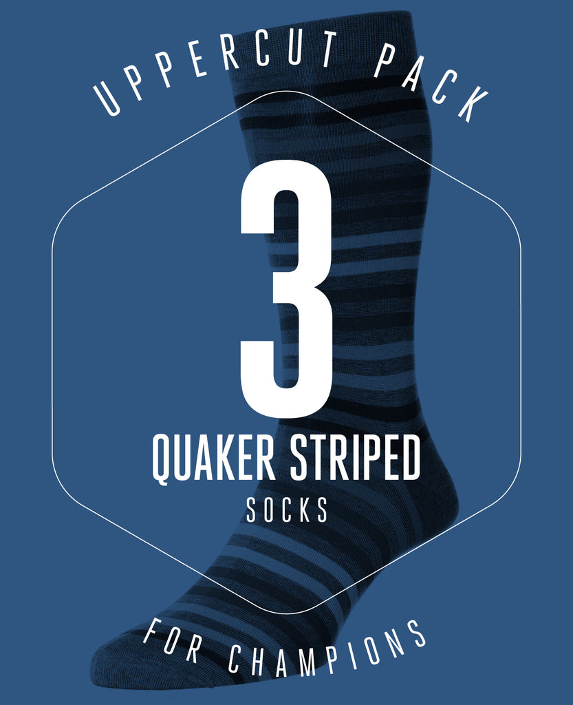 UPPERCUT PACK! 3 PAIRS OF QUAKERS SOCKS FOR £38