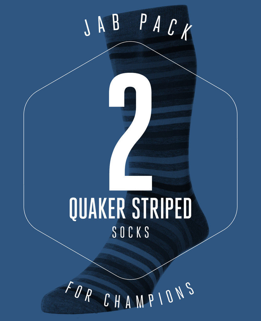JAB PACK! 2 PAIRS OF QUAKERS SOCKS FOR £26