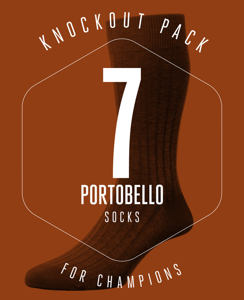 KNOCKOUT PACK! 7 PAIRS OF PORTOBELLO SOCKS FOR £79