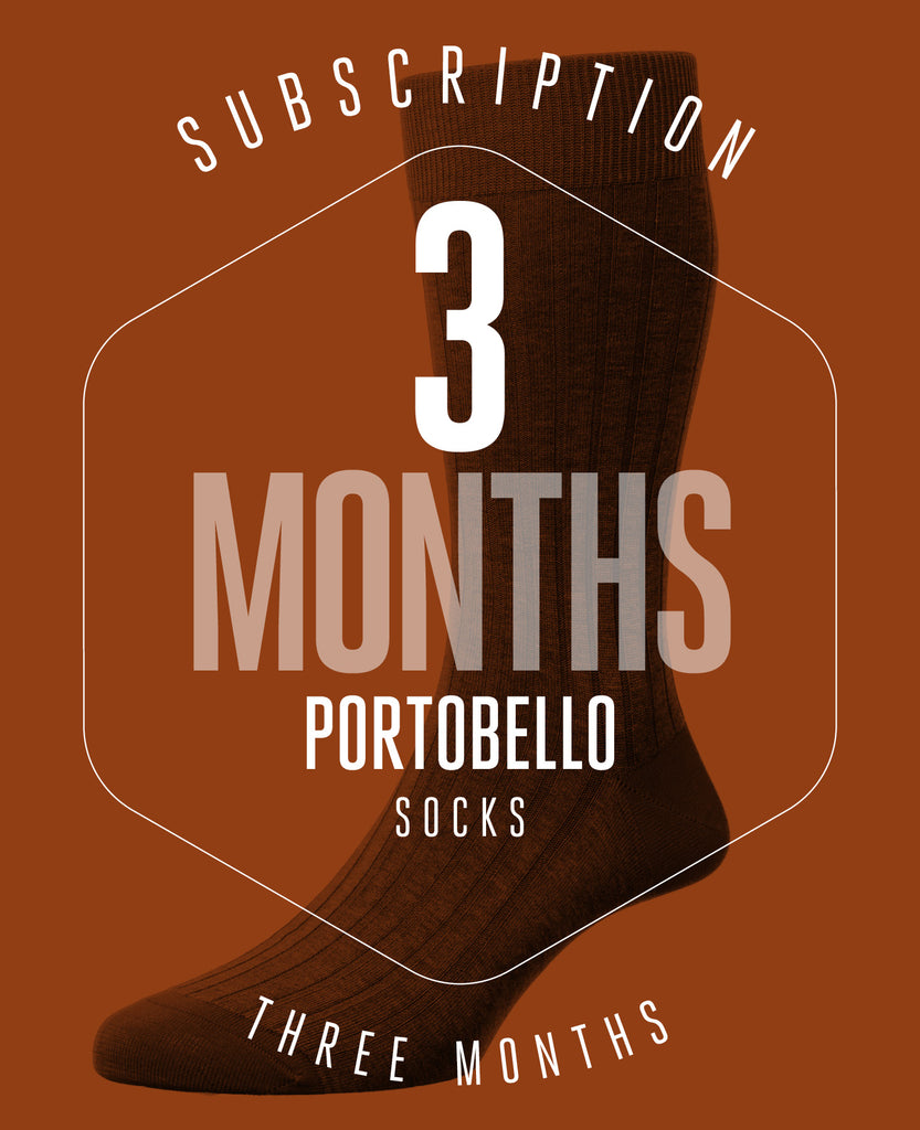 3 Month Subscription! 1 Pair of Portobello Socks for 3 months
