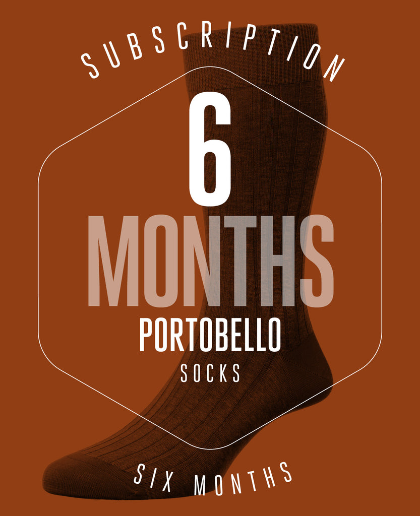 6 Month Subscription! 1 Pair of Portobello Socks for 6 months